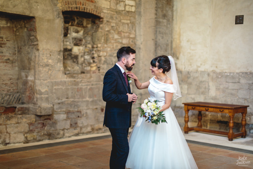 Natural couple wedding photos at Blackfrairs Priory Gloucester