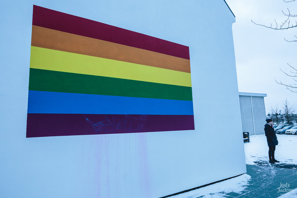 Iceland Travel Photography - Rainbow Pride Mural