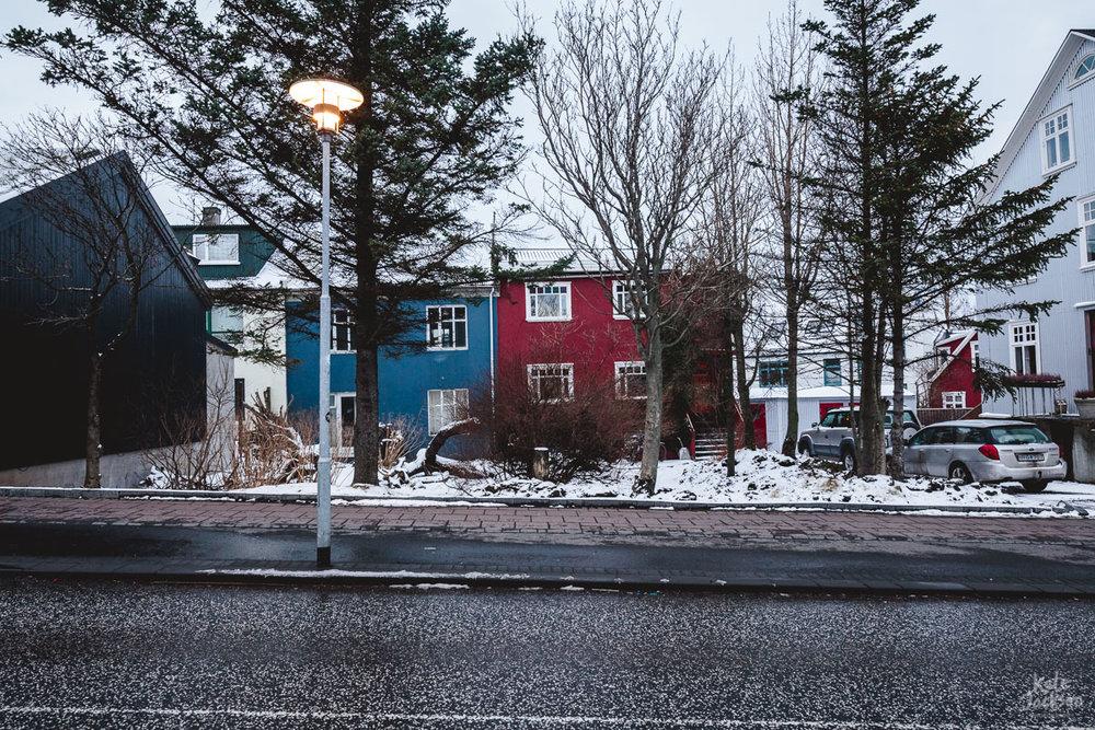 Iceland Travel Photography - Reykjavik Colourful Houses