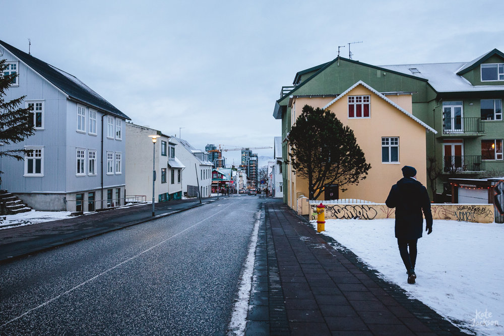 Iceland Travel Photography - Walking down to the waterfront
