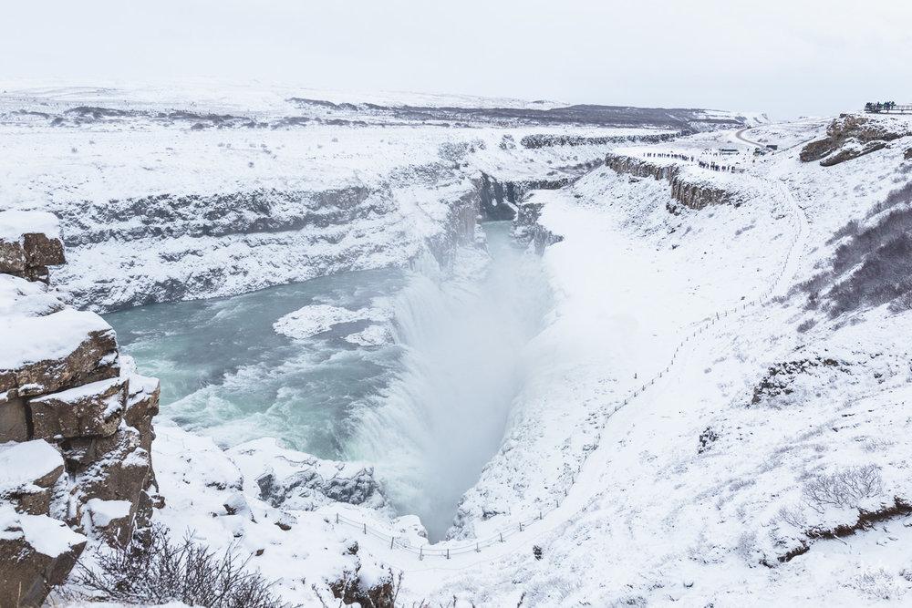 Iceland Travel Photography - Gulfoss Waterfall.