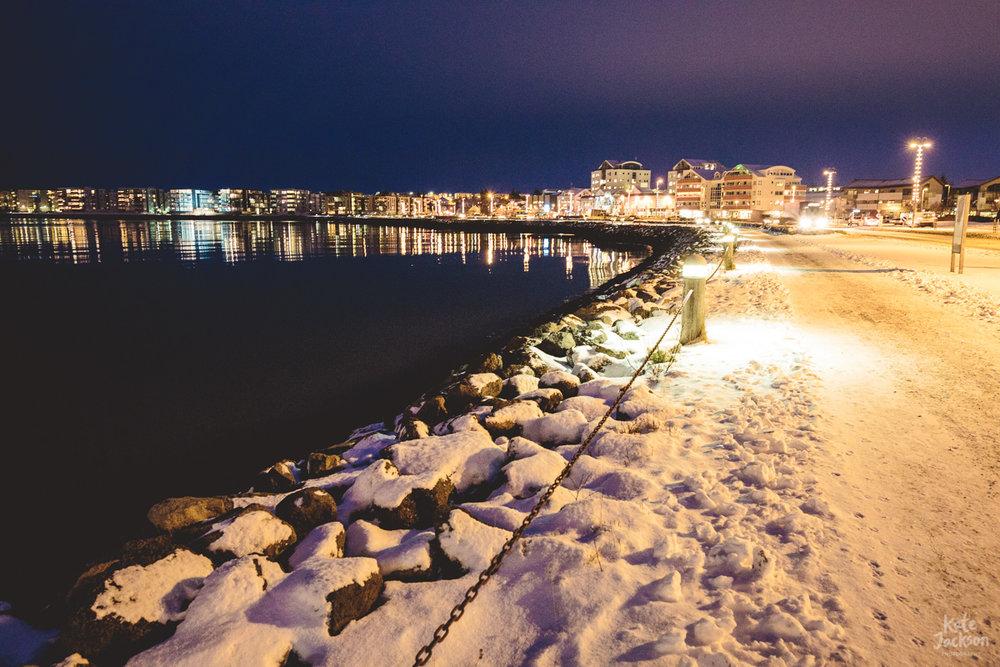 Hafnarfjarðar at night - handheld long exposure!