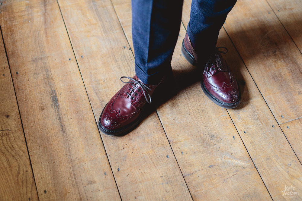 Trickers brogues | Funky Grooms Wedding Shoes - Blackfriars Priory Gloucester