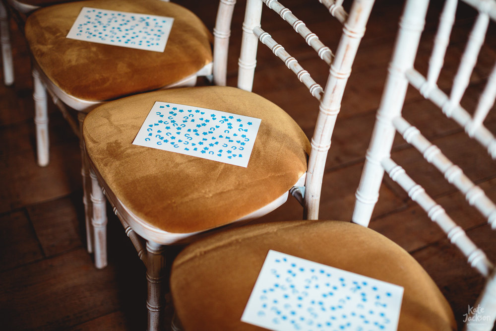 Quirky DIY Orders of Service - Horseshoe print | Blackfriars Priory Gloucester