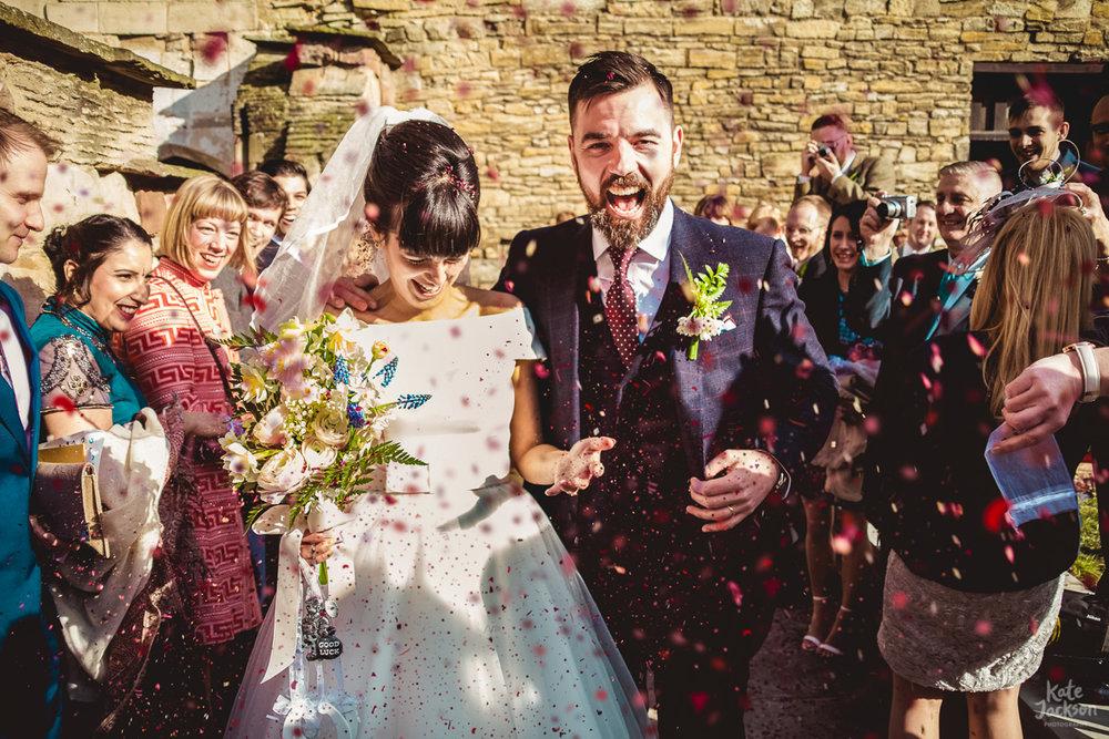 Super Fun Confetti Photo at Blackfriars Priory Gloucester