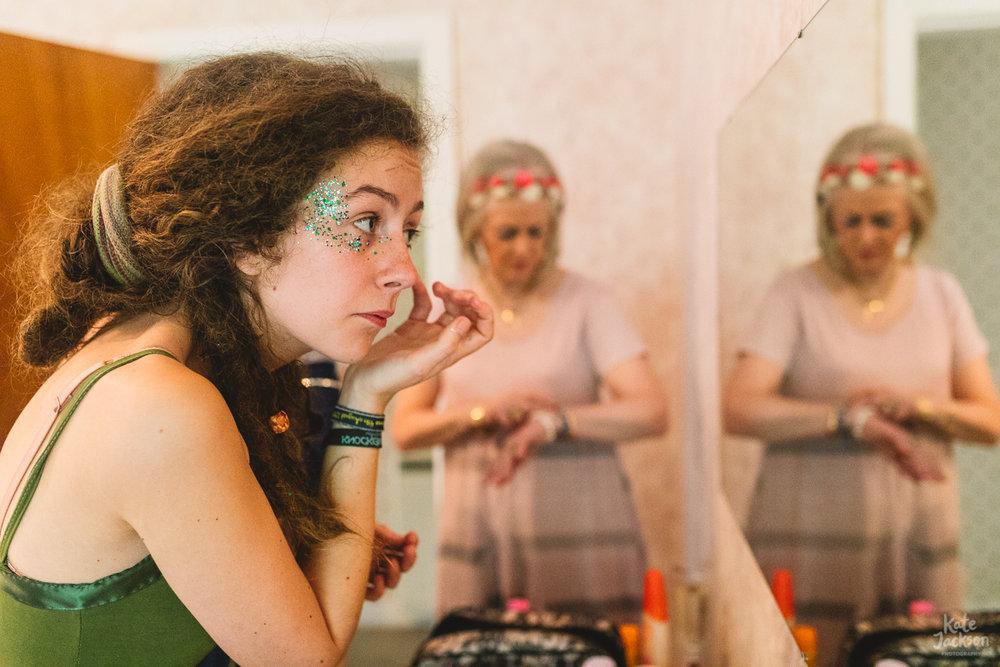 Fun Festival Bride at DIY Barn Wedding Near Glasgow | Kate Jackson Photography