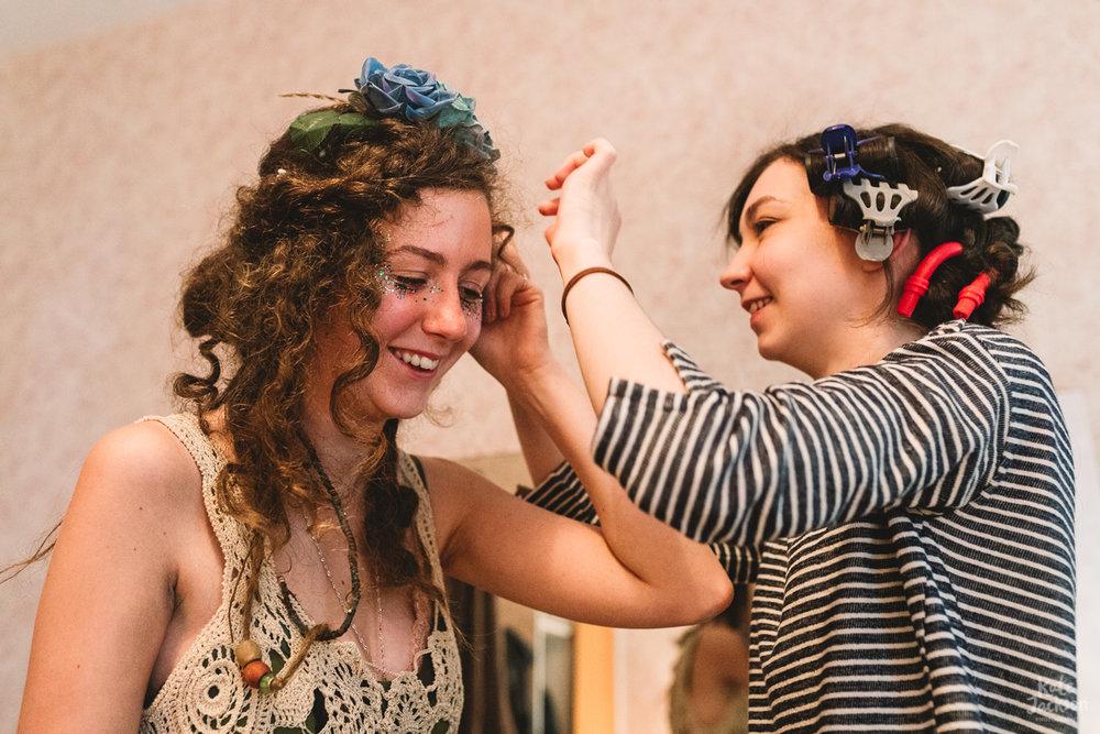 Fun DIY Festival Bride in Scotland Wedding Photography
