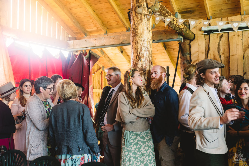 Wedding Guests at alternative ceremony at Knockengorroch in Scotland | Kate Jackson Photography