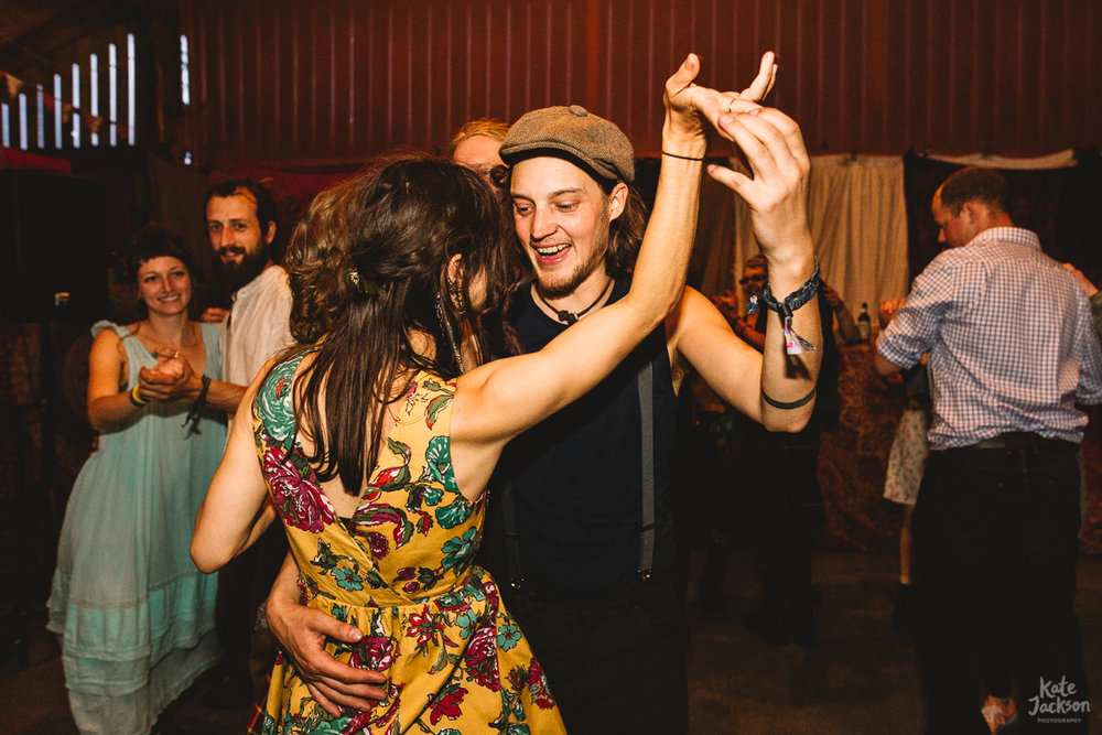 Super Fun Ceilidh Dance at Knockengorroch Wedding | Kate Jackson Photography
