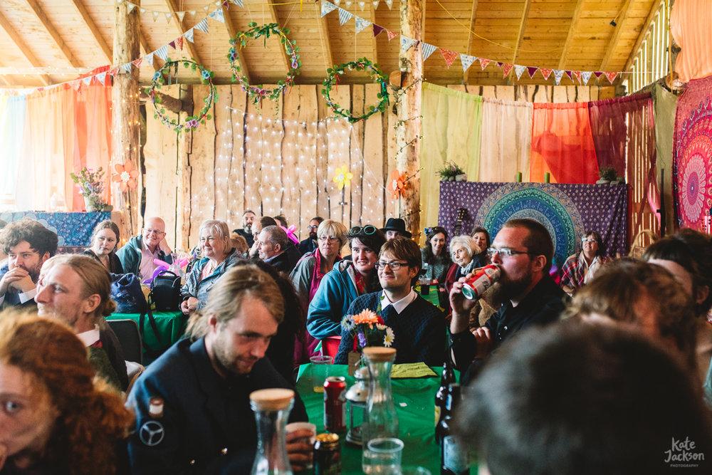 Wedding Reception at DIY Festival Wedding in Scotland | Kate Jackson Photography