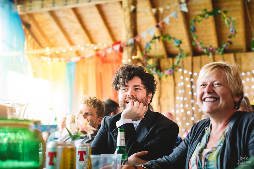 Wedding Speeches at DIY Festival at Knockengorroch | Kate Jackson Photography