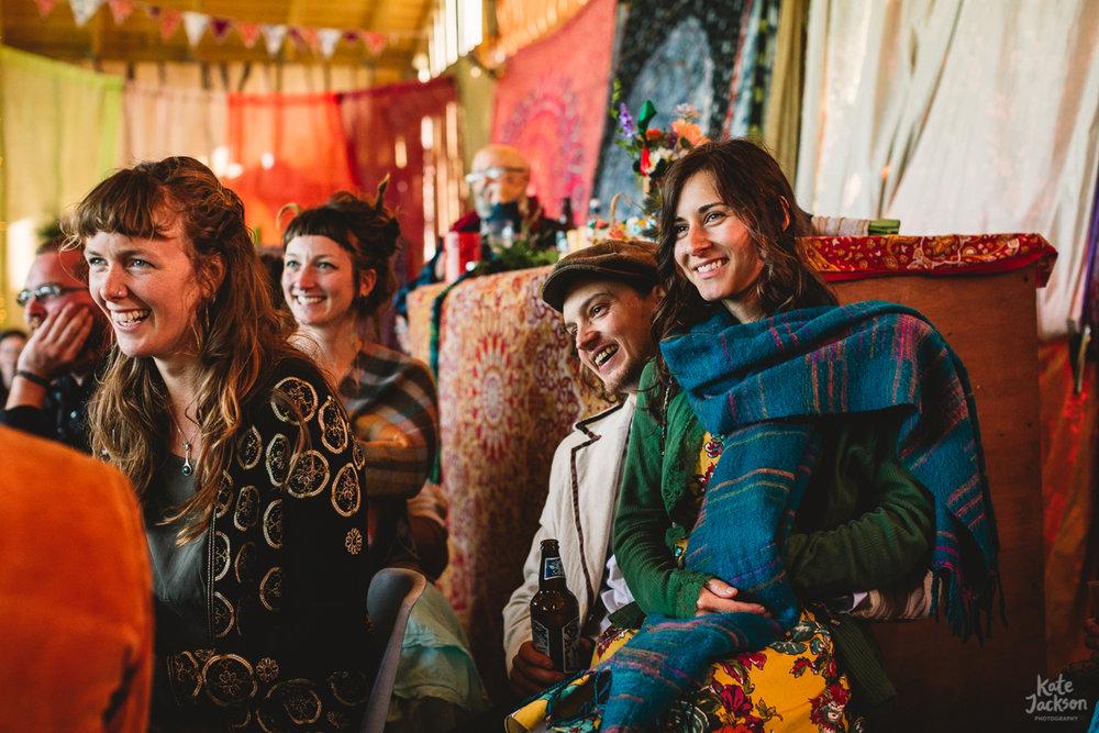 Fun speeches at DIY Festival Wedding in Scotland | Kate Jackson Photography