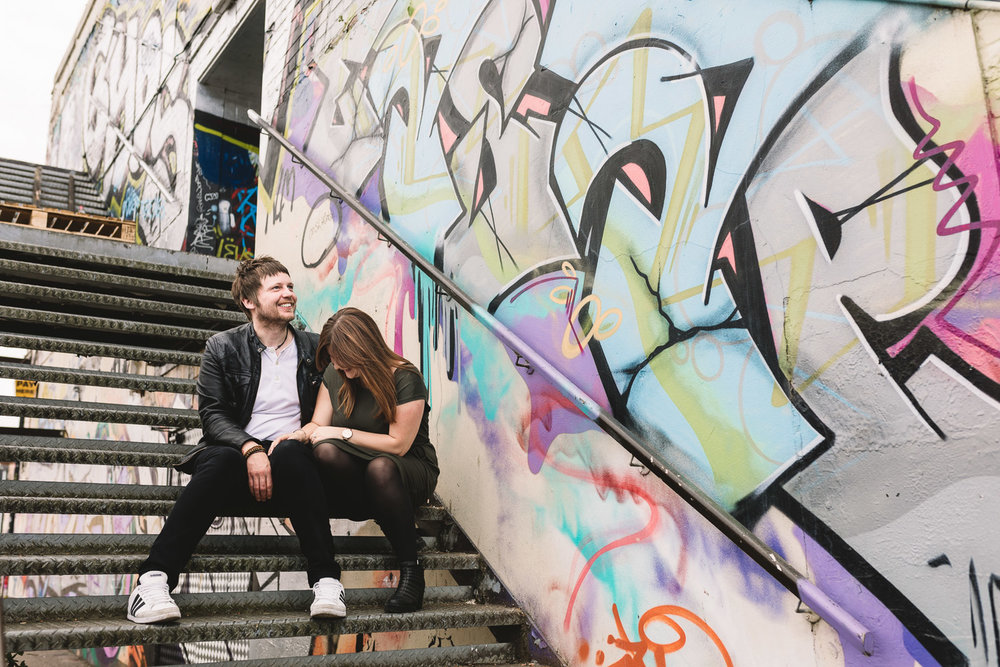 Fun Urban Engagement Shoot at the Custard Factory
