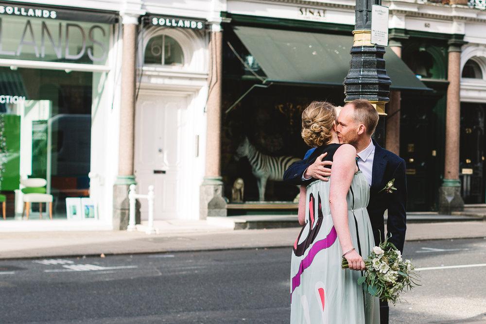 Fun London Wedding Photographer at Mayfair Library