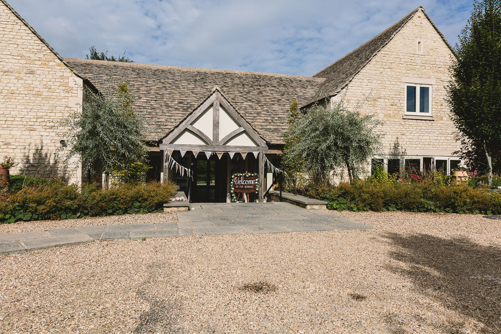 Exterior of Hyde Barn Wedding Venue