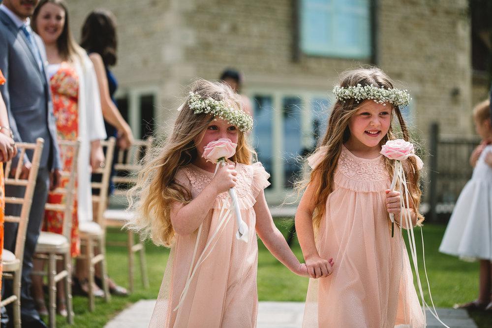 Flower Girls at Hyde Barn | Natural Wedding Photos
