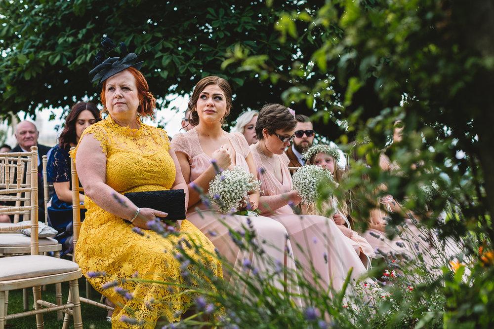 Tears from bridesmaid documentary wedding photo