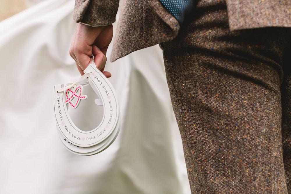 Horse Shoe Wedding Detail at Fun Hyde Barn Wedding