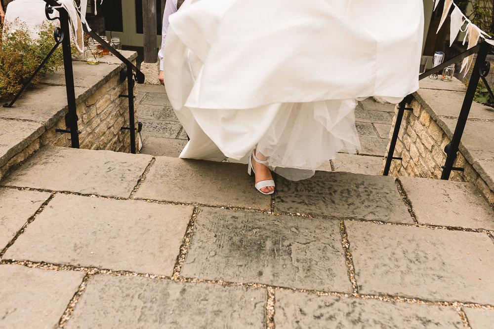 Glittery Wedding shoes at Hyde Barn Weddings