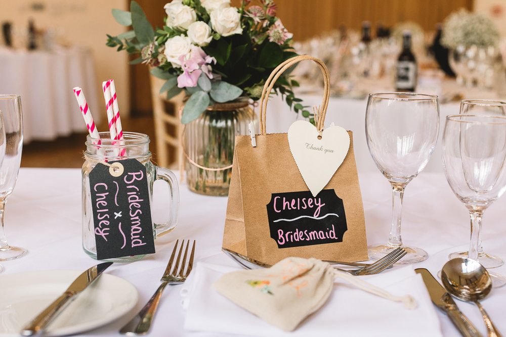 Photo of Rustic DIY wedding gifts in Hyde Barn in the Cotswolds