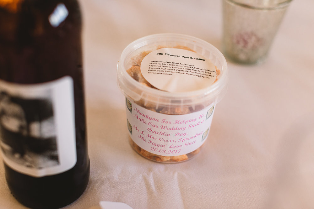 Photo of fun DIY Wedding Favour in the Cotswolds