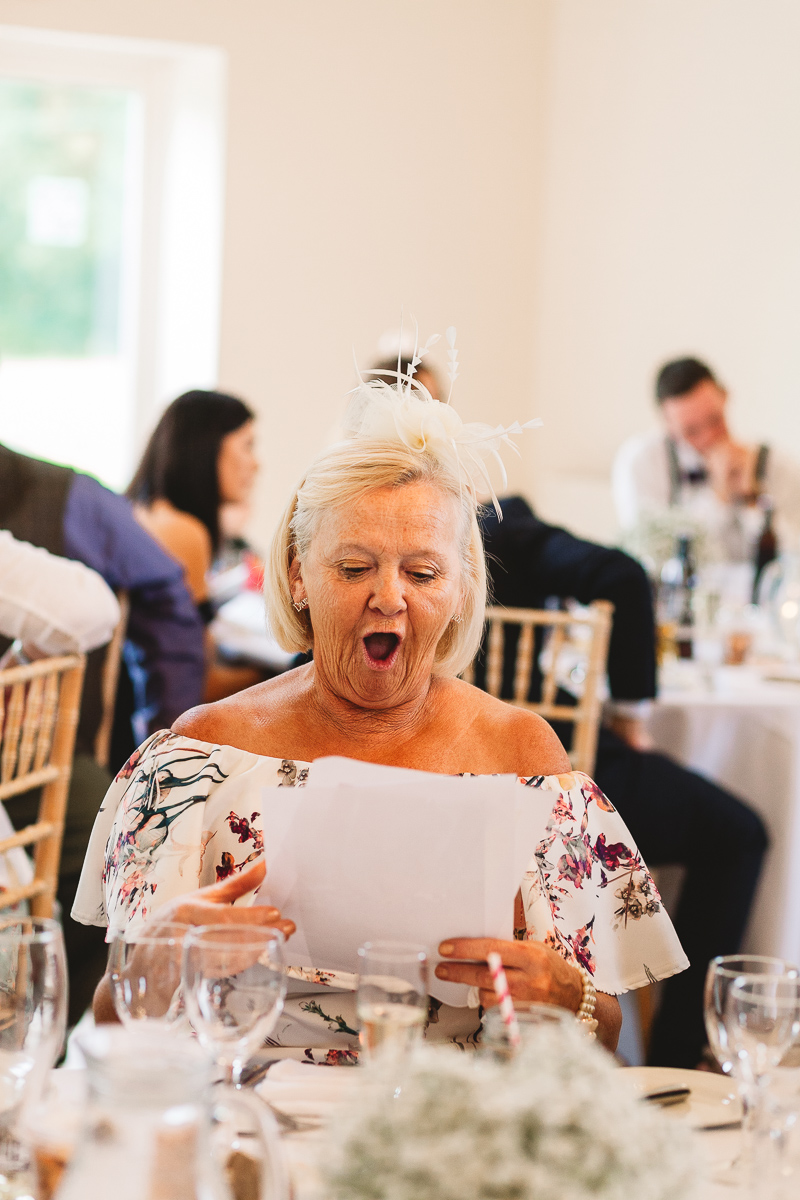 Fun photo of lady with a funny shocked face