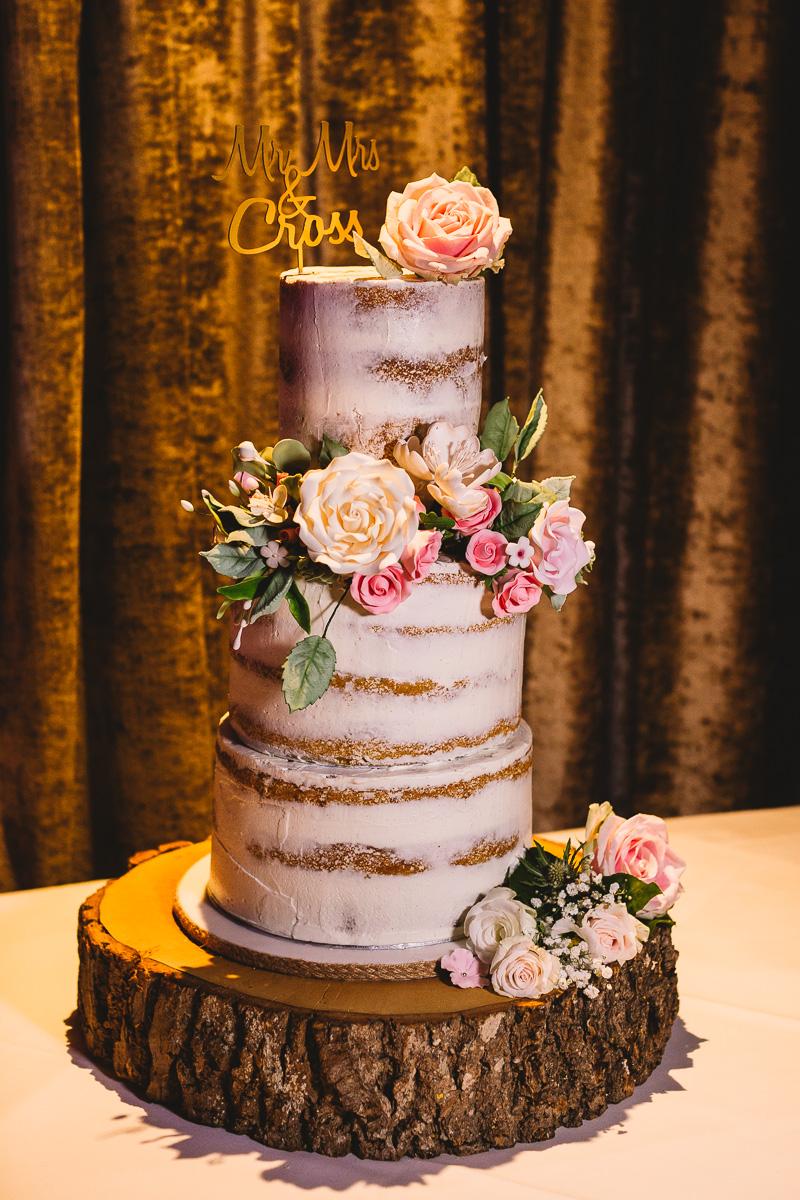 Cotswold Cake Bee Naked Wedding Cake