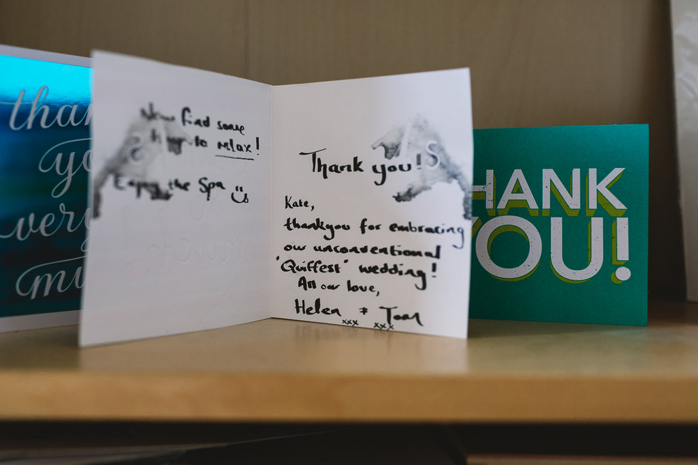 Might of cried a little when these guys not only sent me a lovely thank you card but a trip to a spa! TOTAL LEGENDS.