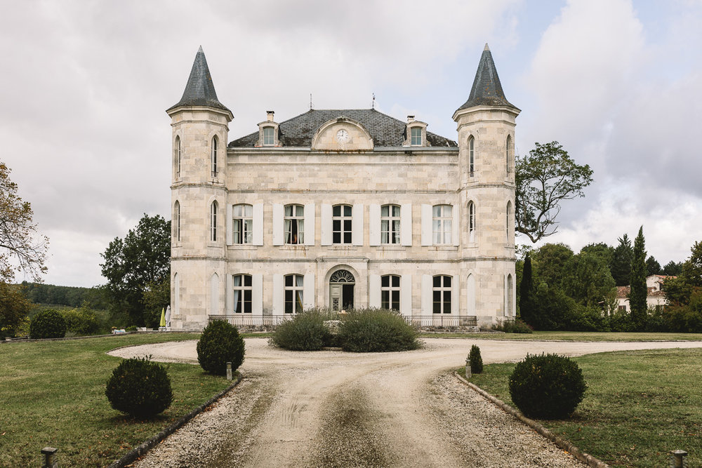 Exterior of Chateau Lasfargues at Relaxed Destination Wedding