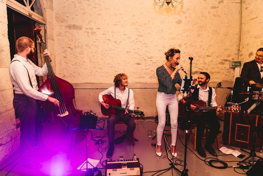 The swing kings manchester band at french chateau wedding