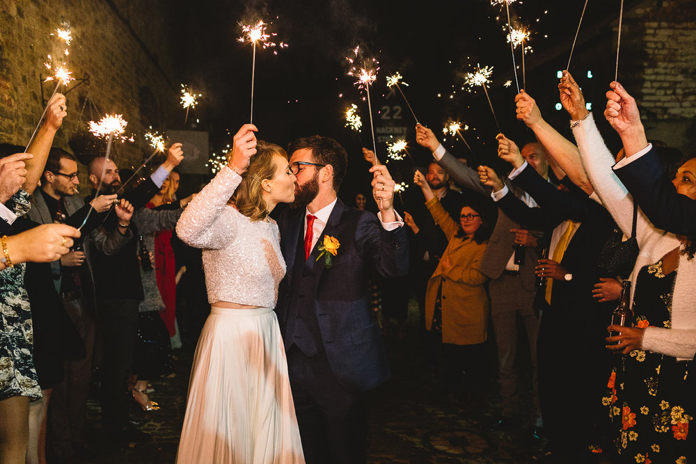Sparkler Exit at Clapton Country Club in Hackney
