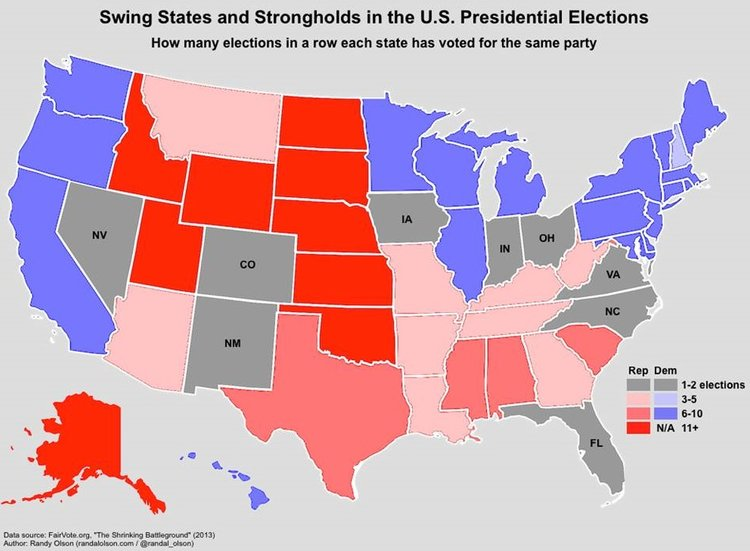 Presidential Election Years Of Electoral College Maps How - 1988 us electoral map