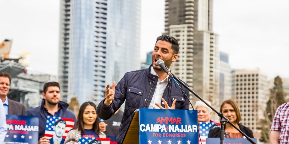 Ammar Campa-Najjar, Democratic Congressional Candidate in CA-50 (Photo by Ammar Campa-Najjar for Congress)