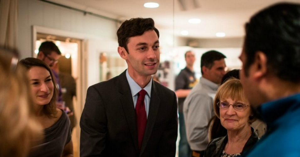 Photo of Jon Ossoff (Dem. candidate from GA) by his campaign