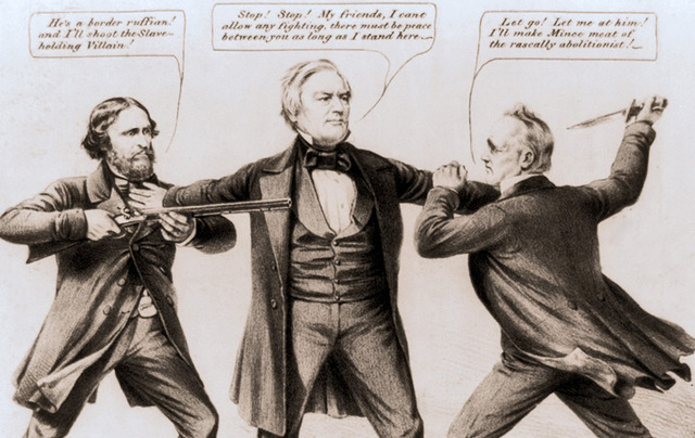 Millard Fillmore in 1856 political cartoon