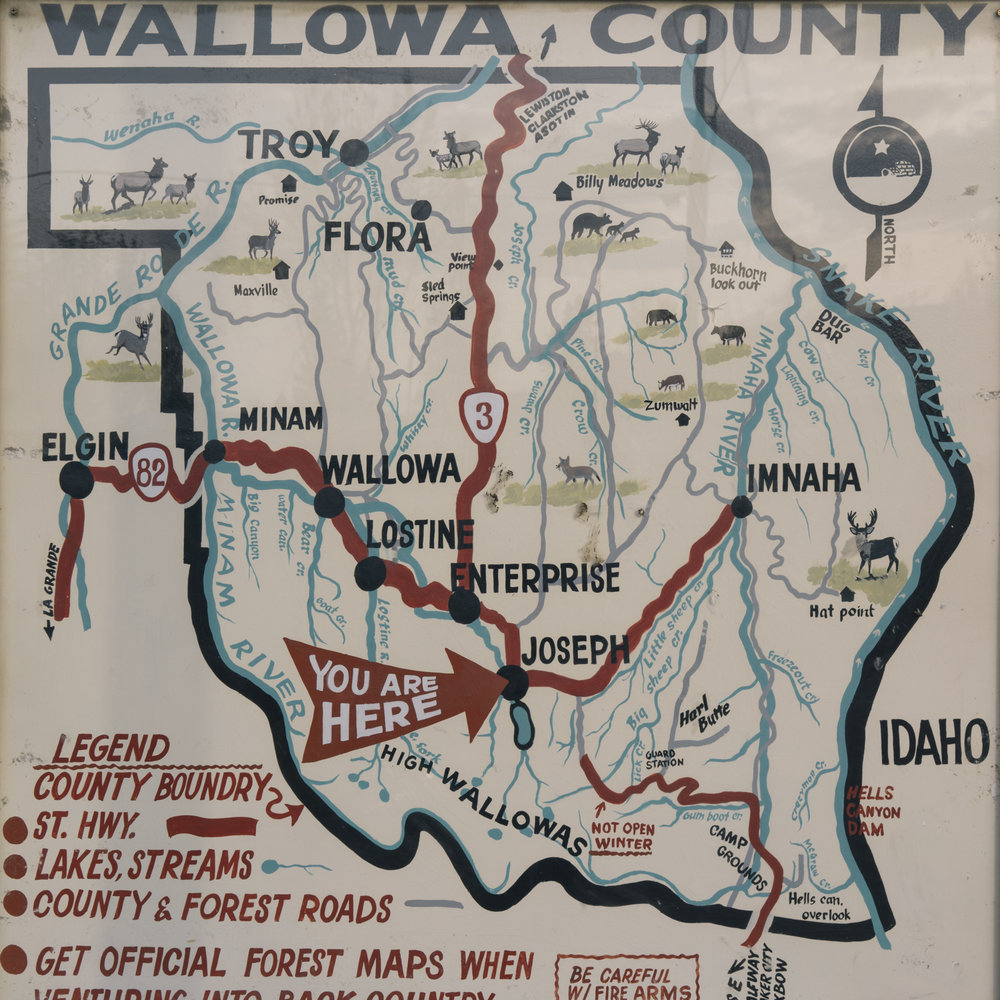 Prairie Mountain Country - Wallowa County Map