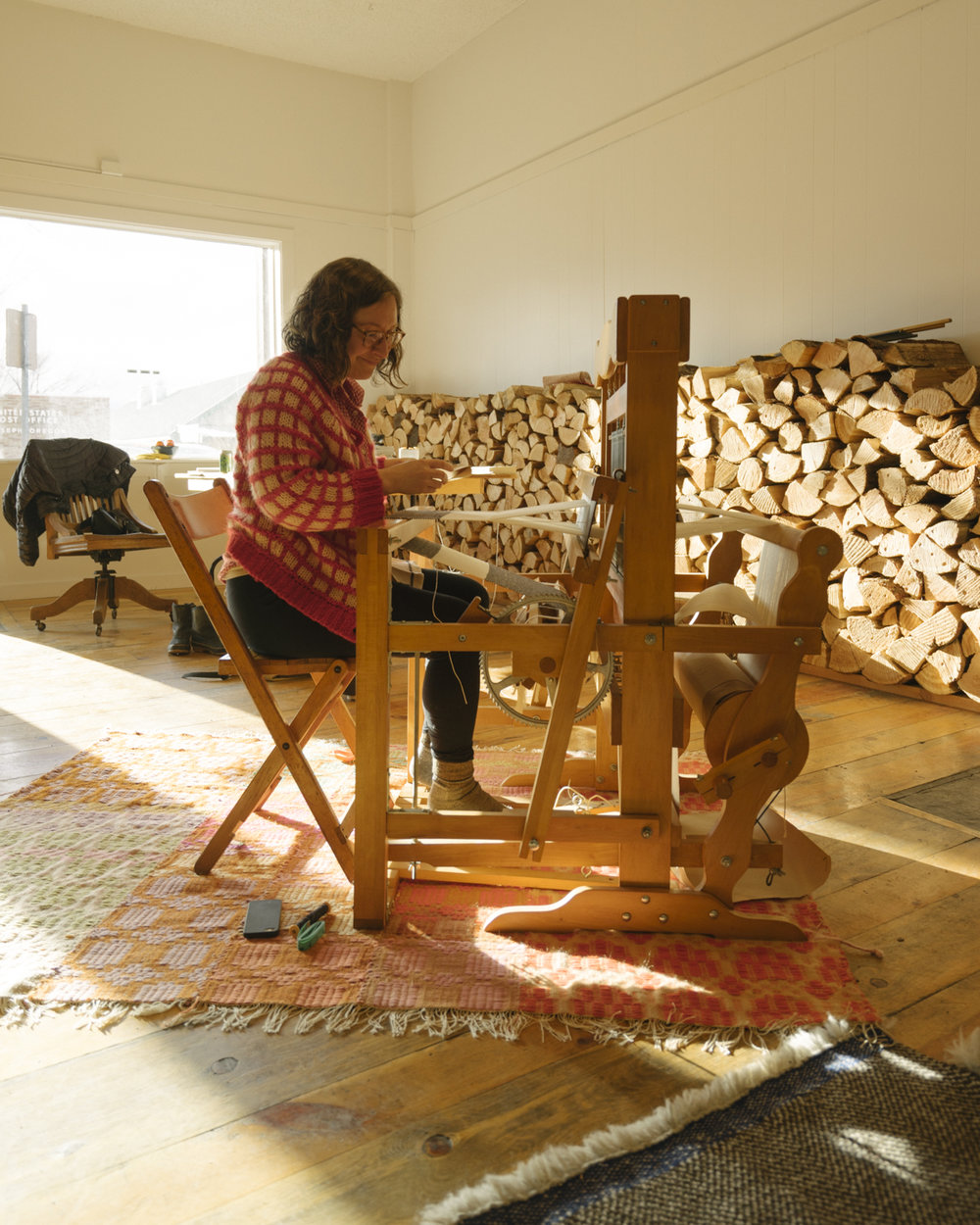 Prairie Mountain Folk School - Joseph, Oregon - Loom Weaving Workshop Class