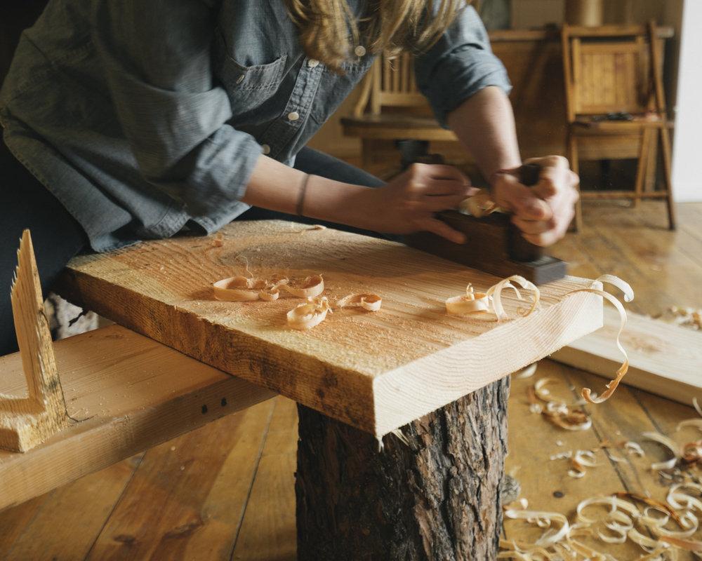 Prairie Mountain Folk School - Joseph, Oregon - Woodworking Bench Class