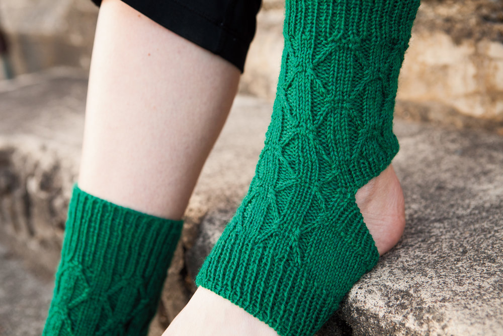 Yogini Socks in Knit Picks On The Go Knits