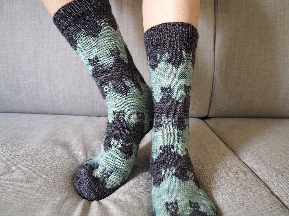 Prairie Cats Socks