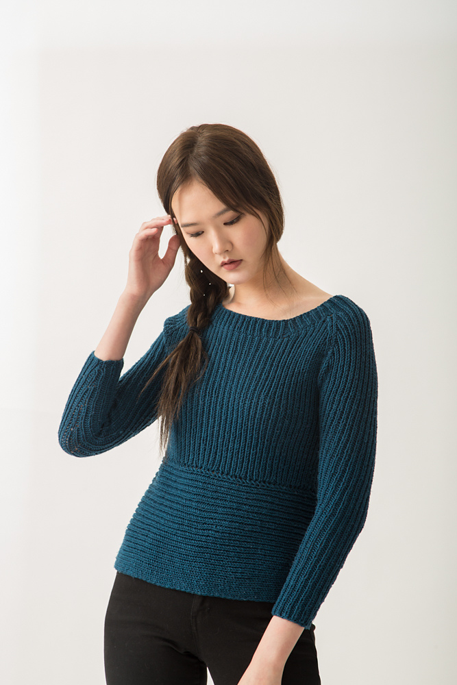 Ribbed Raglan Sweater in KPC Fall/Winter 2017
