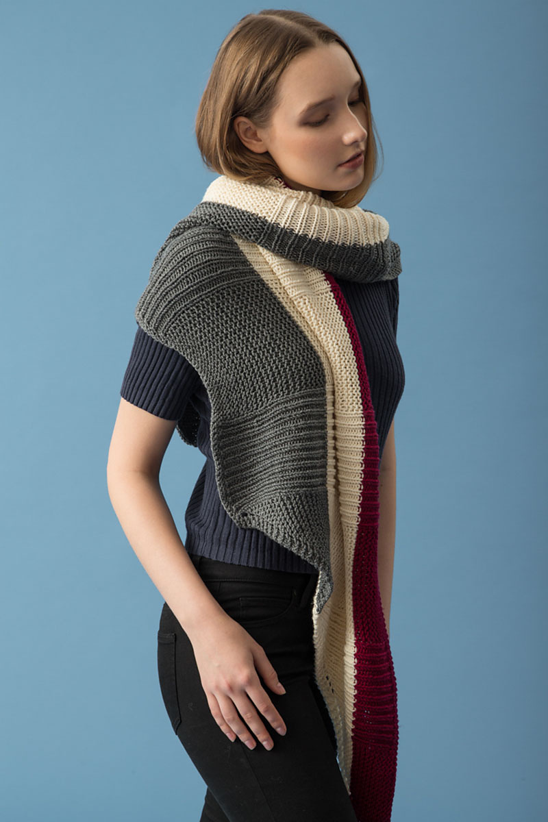 Rib and Garter Stitch Shawl in KPC Fall/Winter 2017