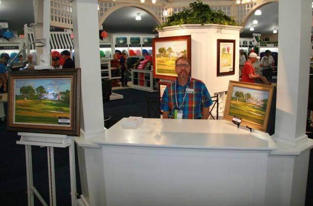 David Lussier at the 2016 US Open Merchandise Pavilion