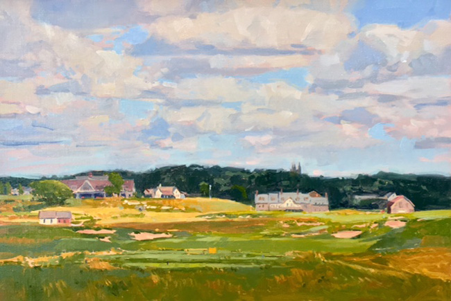 "'Finishing Hole' 18th Hole, Erin Hills 12""x18"" PRIVATE COLLECTION"