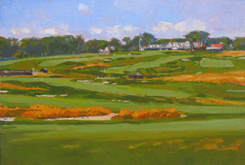 "'From The Church Pews' Oakmont 12""x18"" PRIVATE COLLECTION"