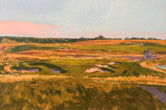 "'Late Afternoon' 9th Hole, Erin Hills 12""x18"" PRIVATE COLLECTION"