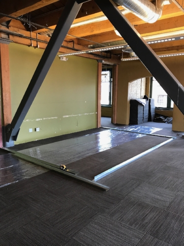 Colvos Construction is doing tenant improvements for Infoblox to expand its office in downtown Tacoma.