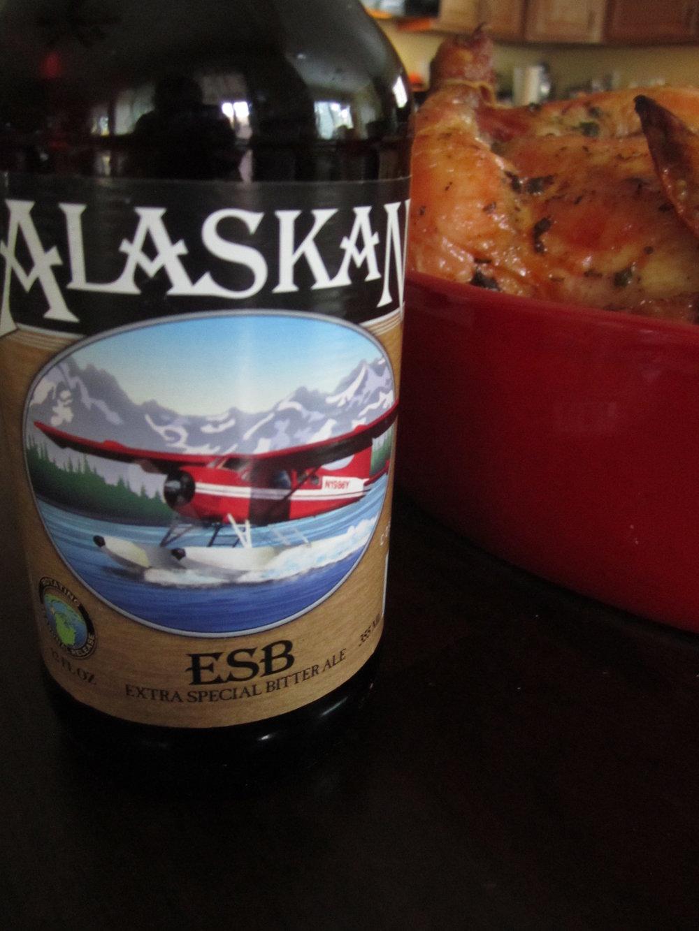 Alaskan ESB with Roasted Chicken | CaretoPair.com