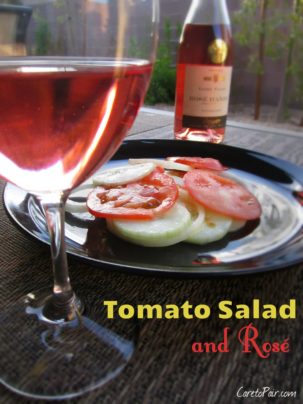 Tomato Salad and Rose