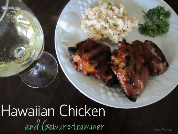 Gewuztraminer Hawaiian Chicken